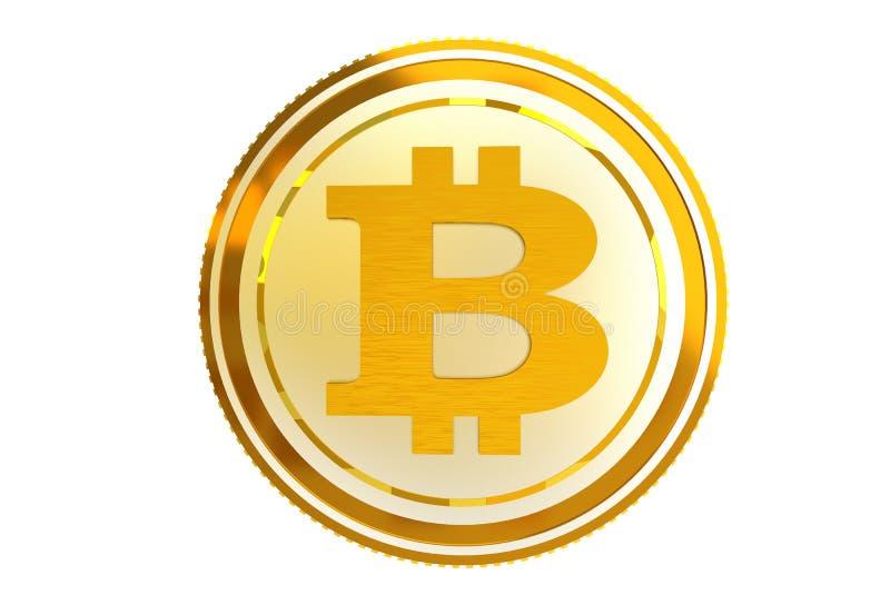 Изолированная монетка Bitcoin иллюстрация штока