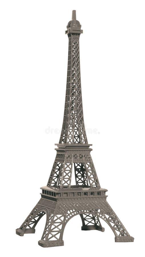 Изолированная модель Эйфелева башни стоковые фотографии rf