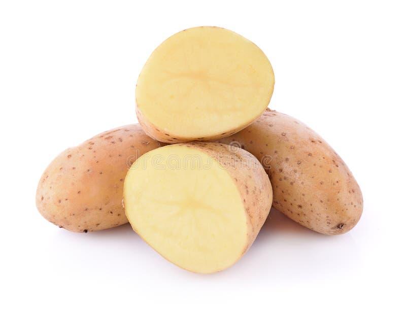 изолированная предпосылкой белизна картошки стоковая фотография