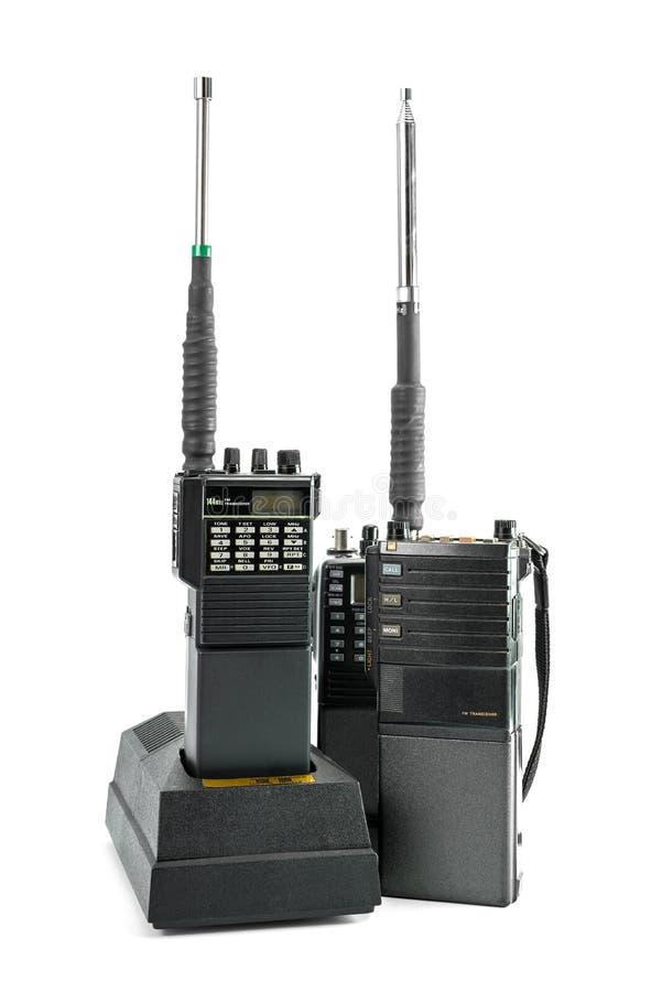 изолированная предпосылкой белизна комплекта портативного радио стоковые фотографии rf