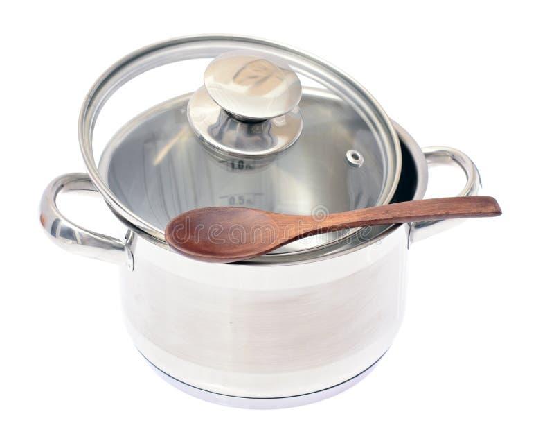 Download изолированная предпосылкой белизна лотка Kitchenware Стоковое Фото - изображение насчитывающей яркое, металл: 40578722