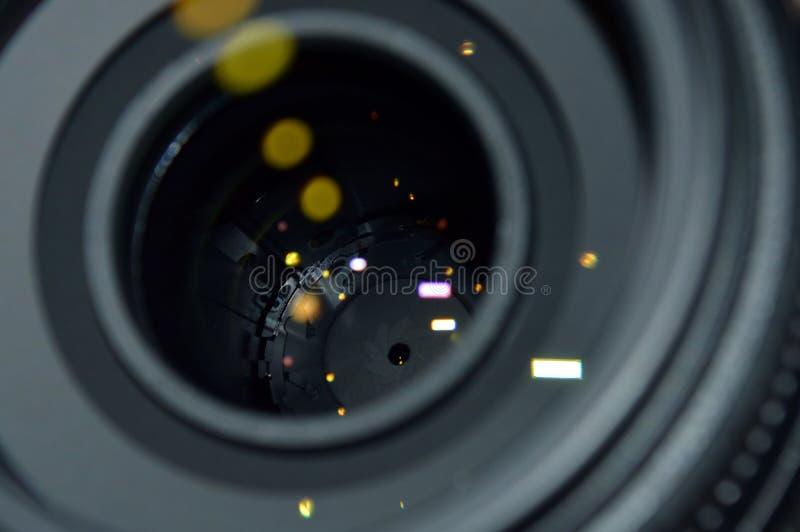 изолированная предпосылкой белизна фото объектива стоковые изображения