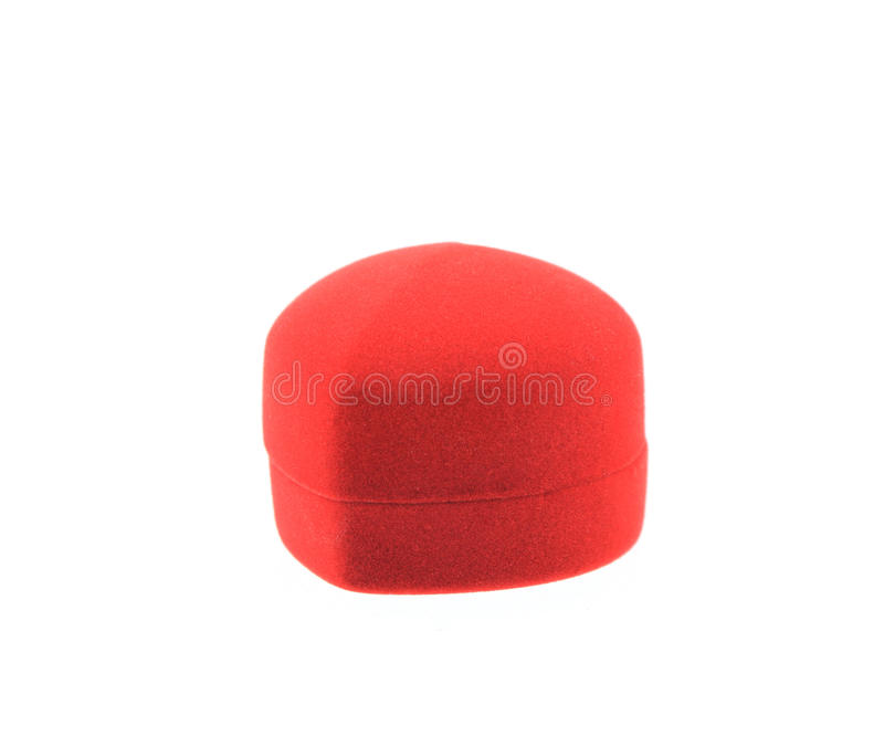 Изолированная пустая красная коробка кольца на белизне стоковая фотография