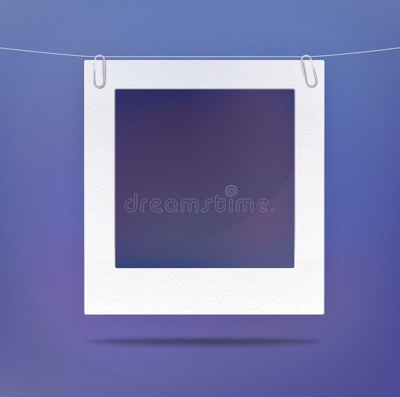 Изолированная пустая рамка изображения или фото иллюстрация штока