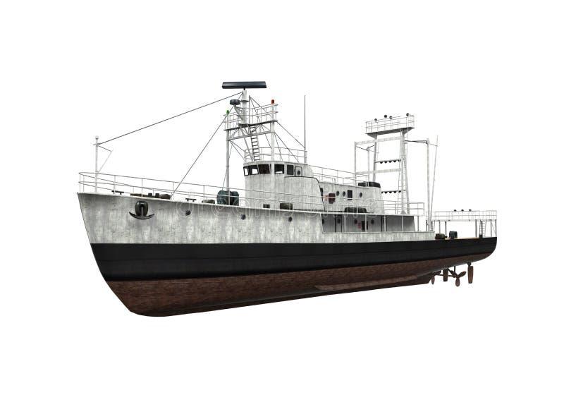 Изолированная рыбацкая лодка бесплатная иллюстрация