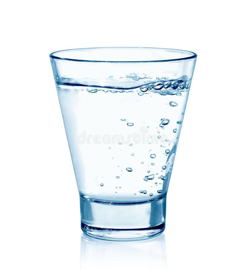 изолированная стеклом белизна воды стоковое изображение rf