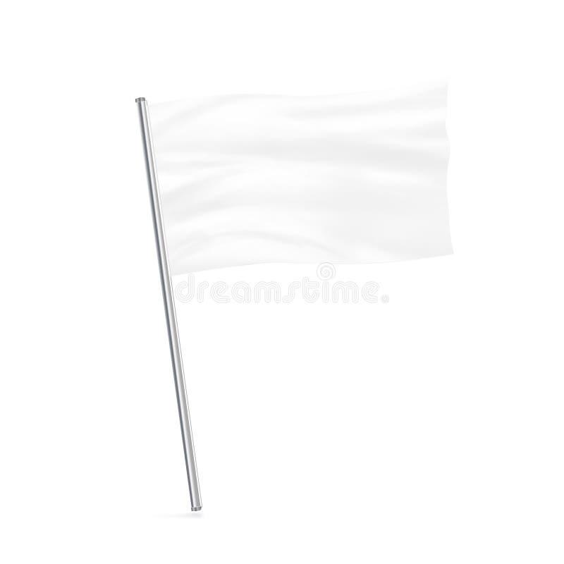 Изолированная стойка пустой насмешки флага парламентера поднимающая вверх стоковое изображение rf