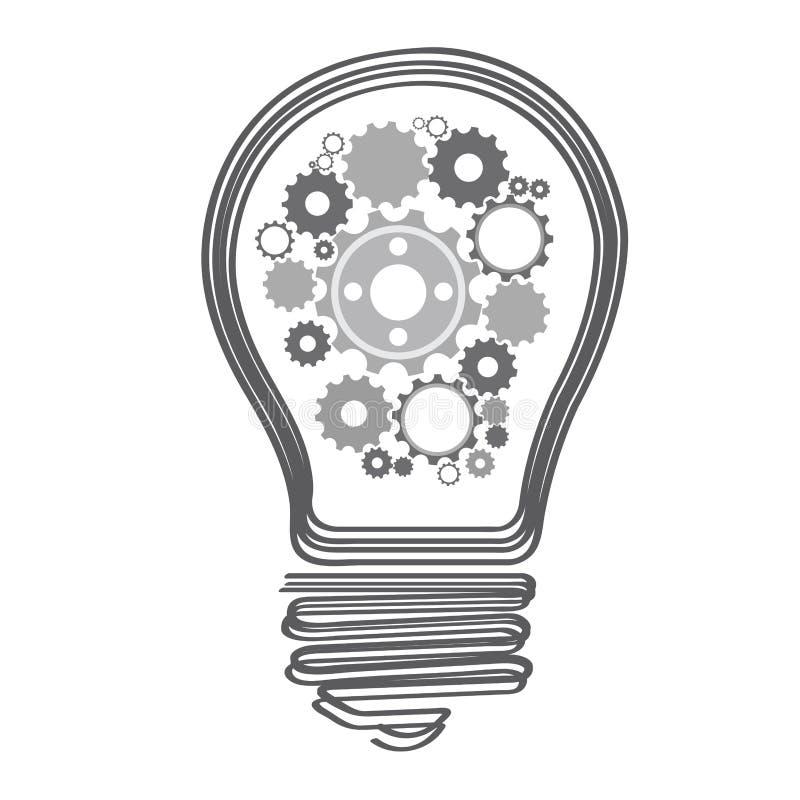 Изолированная схематическая лампочка бесплатная иллюстрация