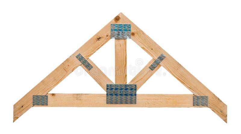 Изолированная ферменная конструкция крыши стоковая фотография rf