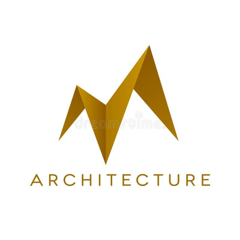 Изолированная форма крыши дизайна логотипа архитектуры, иллюстрация штока