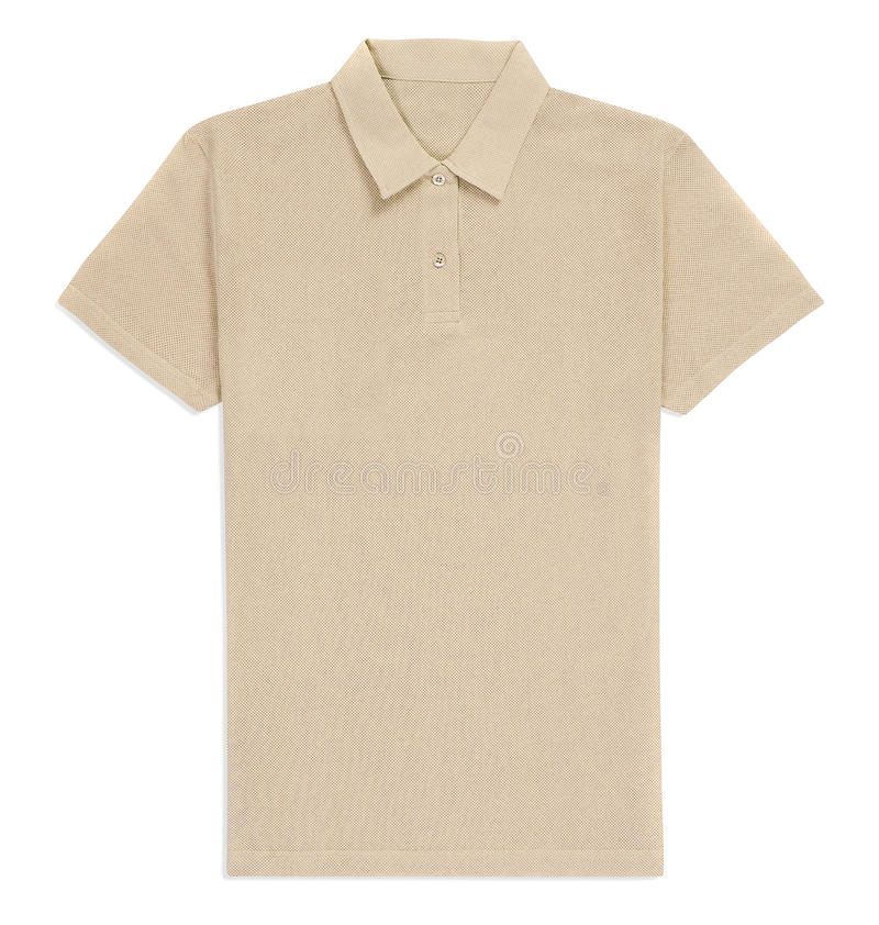 Изолированная футболка Creme стоковое изображение