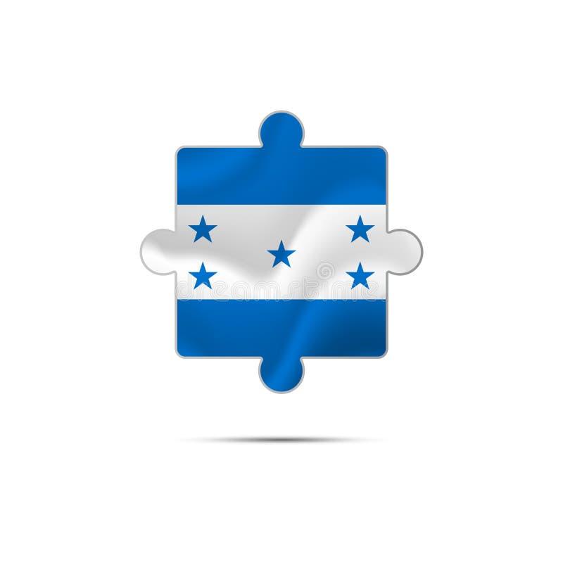 Изолированная часть головоломки с флагом Гондураса вектор бесплатная иллюстрация