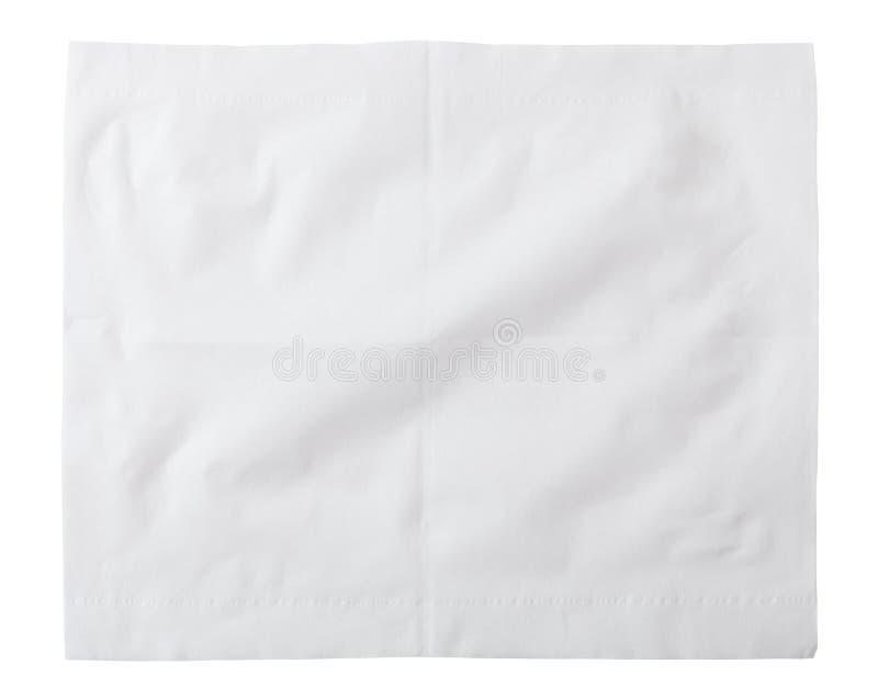 изолированная чернотой бумага салфеток стоковое изображение