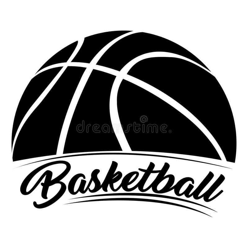 Изолированная эмблема баскетбола стоковое фото