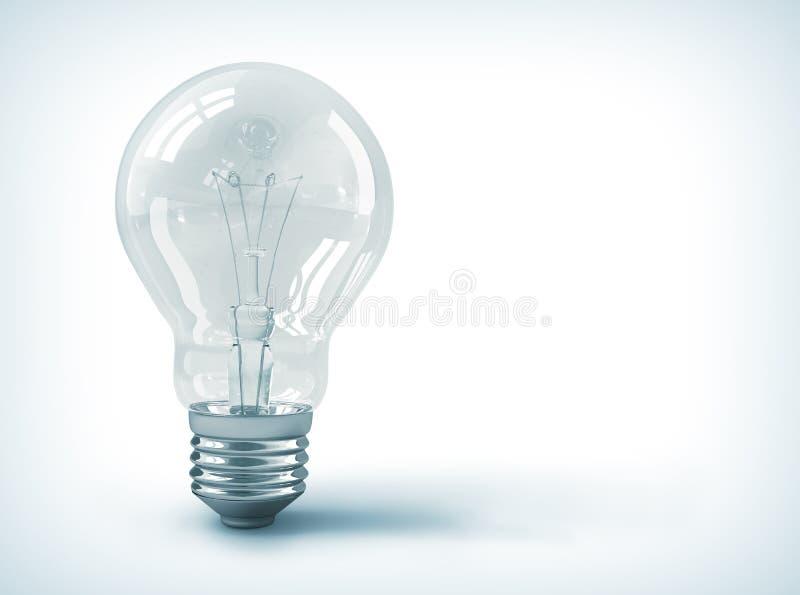 Изолированная электрическая лампочка иллюстрация штока