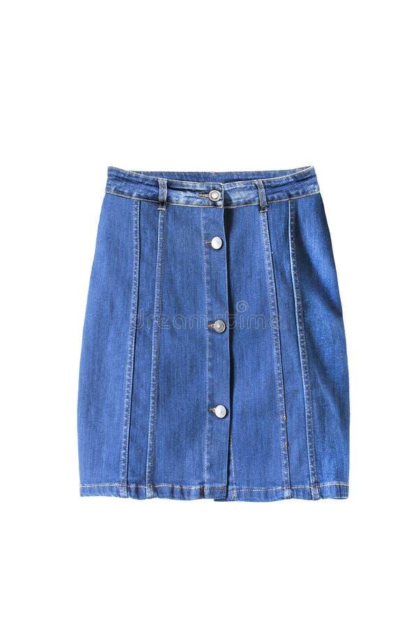 Изолированная юбка джинсовой ткани стоковые изображения rf