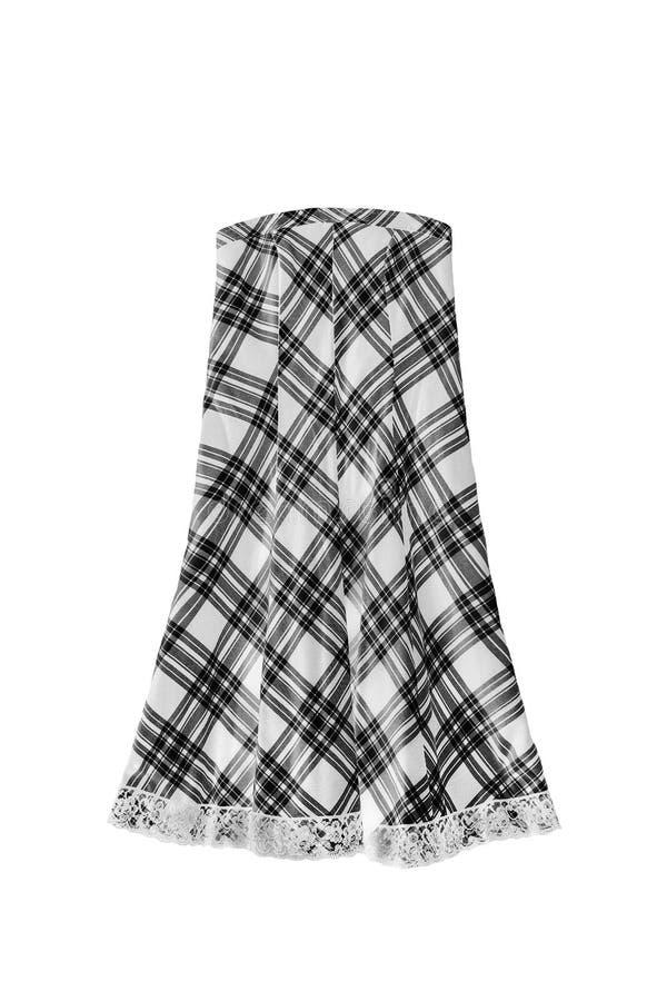 Изолированная юбка тартана стоковые фотографии rf