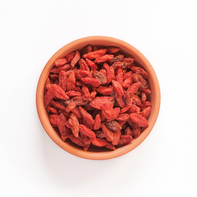 Изолированная ягода Goji стоковая фотография