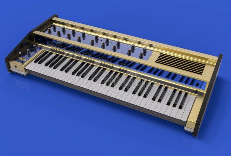 изолированная 3D современная иллюстрация клавиатуры Conce аппаратуры музыки бесплатная иллюстрация