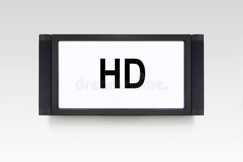 изолированная hd белизна tv стоковое изображение