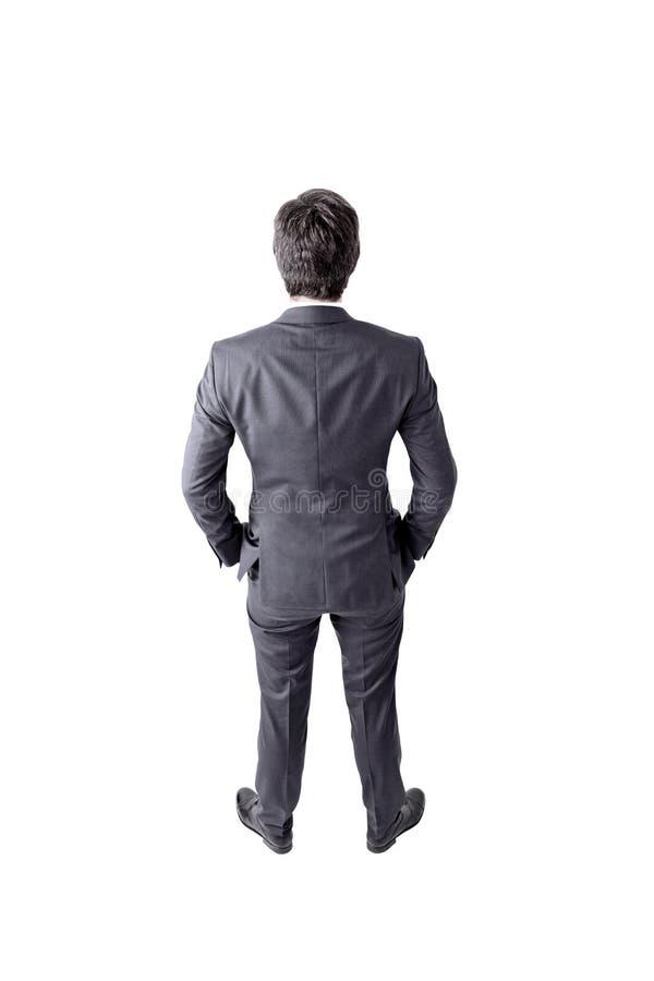 Изолированное вид сзади бизнесмена стоковые изображения