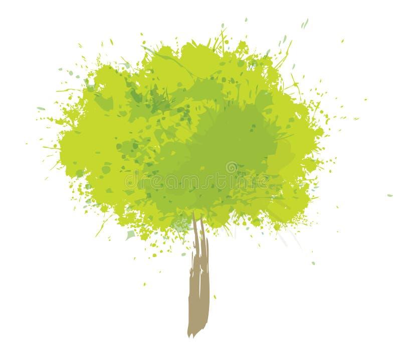 Изолированное дерево вектора абстрактное зеленое бесплатная иллюстрация
