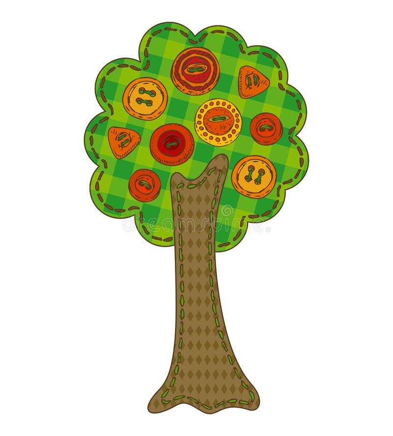 Изолированное дерево лета заплатки бесплатная иллюстрация