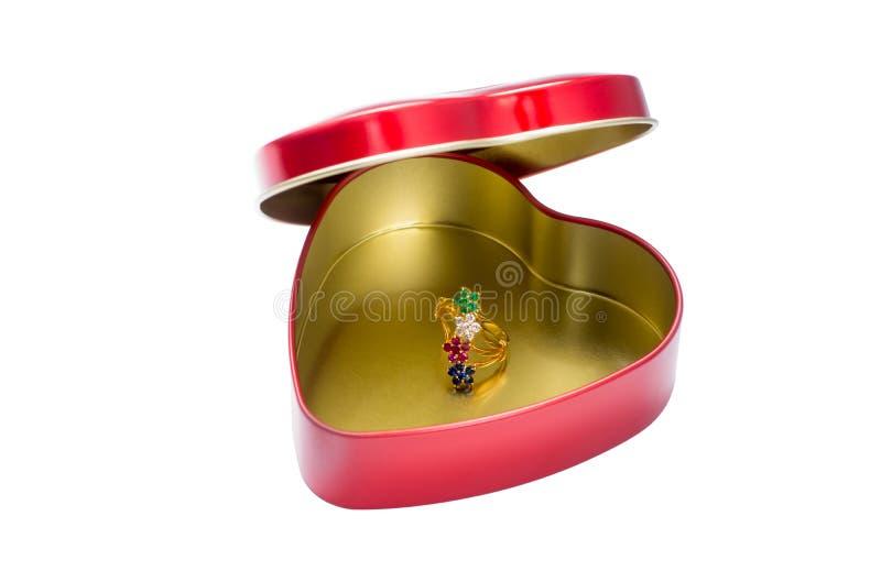 Изолированное кольцо самоцветов, стоковые фотографии rf