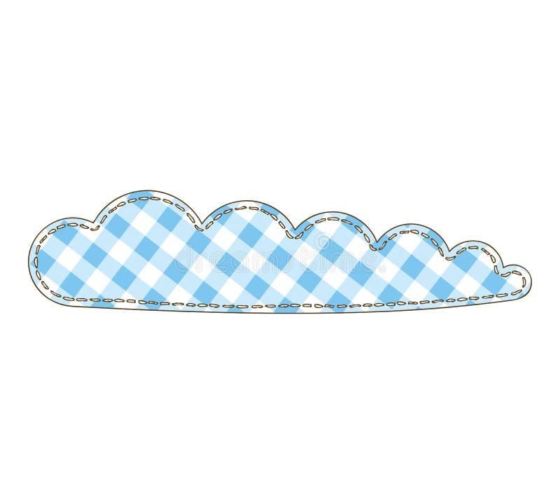 Изолированное облако заплатки иллюстрация штока