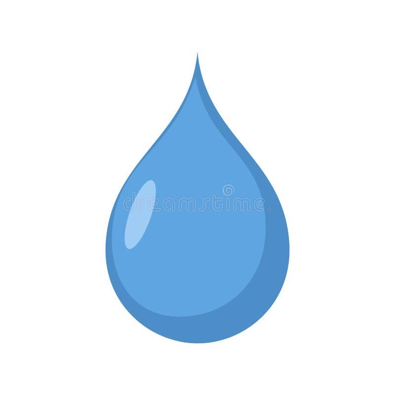Изолированное падение воды синь Aqua drib на белой предпосылке иллюстрация вектора