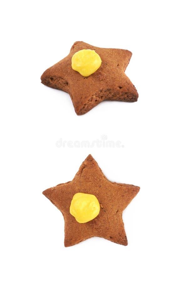 Изолированное печенье сформированное звездой стоковые изображения