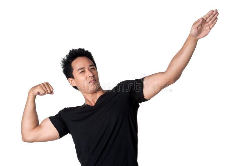 Изолированное привлекательное молодого человека здоровое стоковое фото