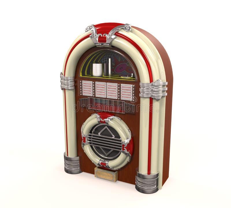Изолированное радио музыкального автомата иллюстрация штока