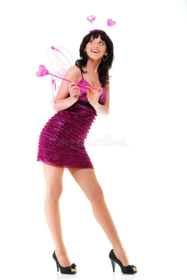 Download Изолированное сердце красивой женщины девушки красное розовое Стоковое Изображение - изображение насчитывающей волосы, красивейшее: 33734539