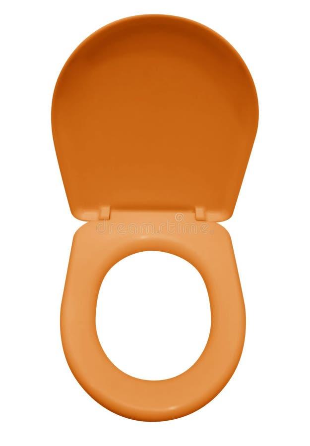 Изолированное сиденье унитаза - апельсин стоковые изображения rf