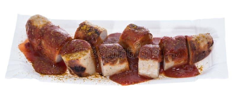 Изолированное Currywurst стоковая фотография rf