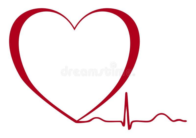 Изолированное ekg сердца иллюстрация штока
