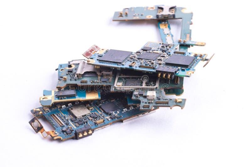 Изолированное mainboard мобильного телефона стоковое изображение