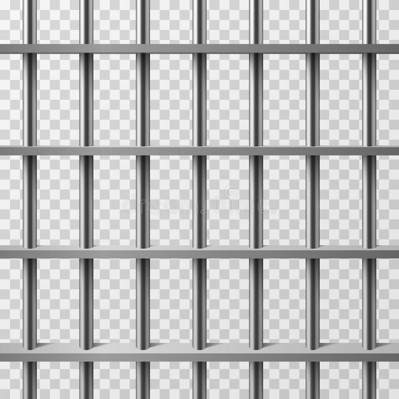 Изолированные бары тюремной камеры Предпосылка вектора тюрьмы иллюстрация вектора