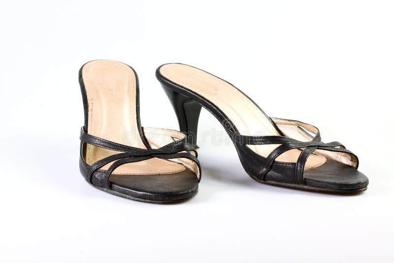 Изолированные ботинки женщин стоковое изображение rf