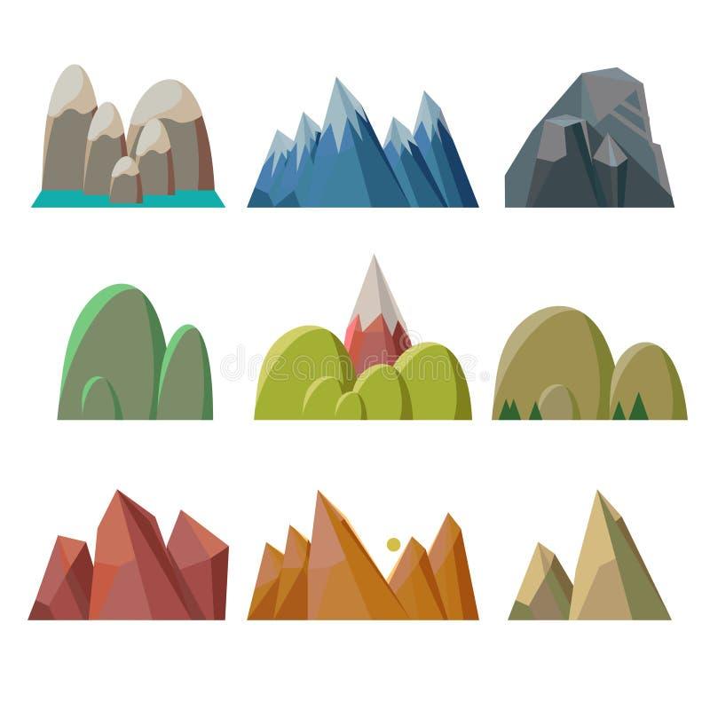 Изолированные горы иллюстрация штока