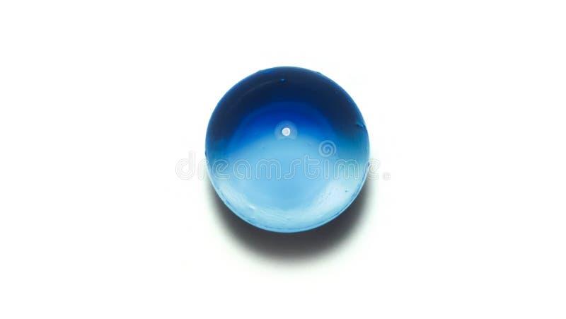 Изолированные голубые шарики студня в взгляде крупного плана стоковые фотографии rf