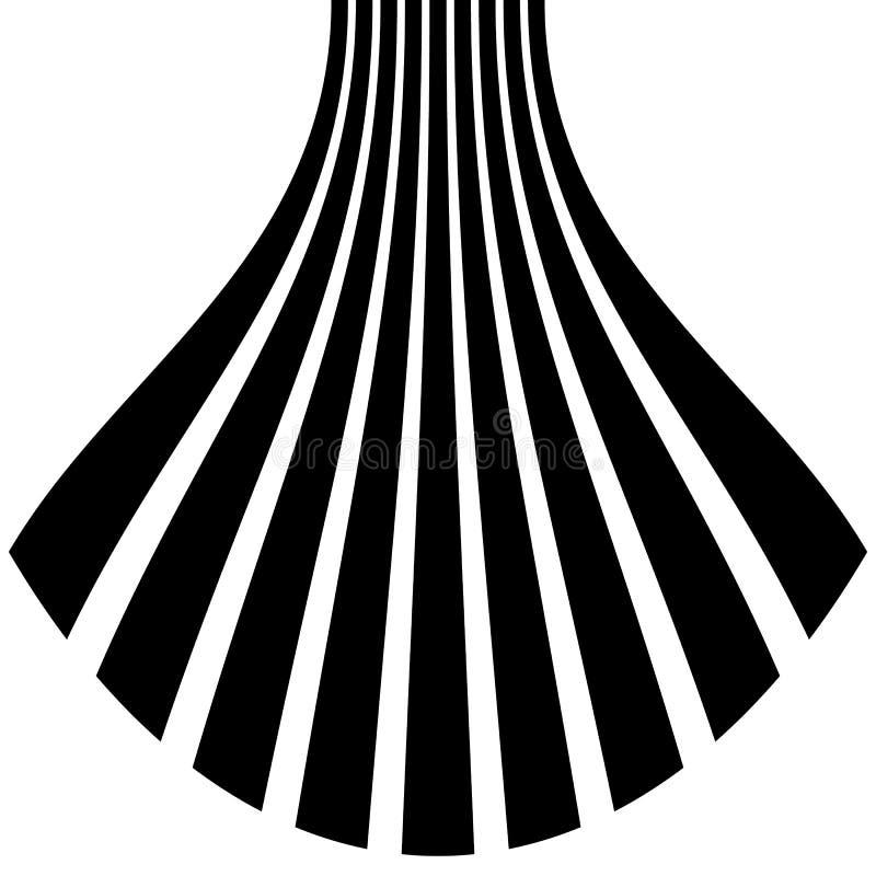 Download Изолированные линии с эффектом искажения на белой предпосылке Geome Иллюстрация вектора - иллюстрации насчитывающей влияние, динамизм: 81800689