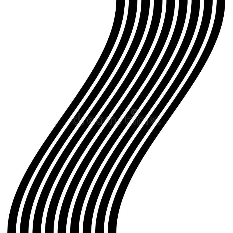Download Изолированные линии с эффектом искажения на белой предпосылке Geome Иллюстрация вектора - иллюстрации насчитывающей оптически, иллюстрация: 81800711