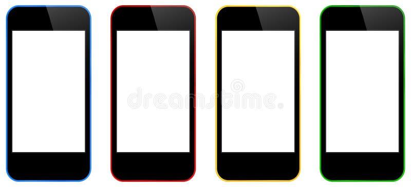 Изолированные мобильные телефоны дела бесплатная иллюстрация