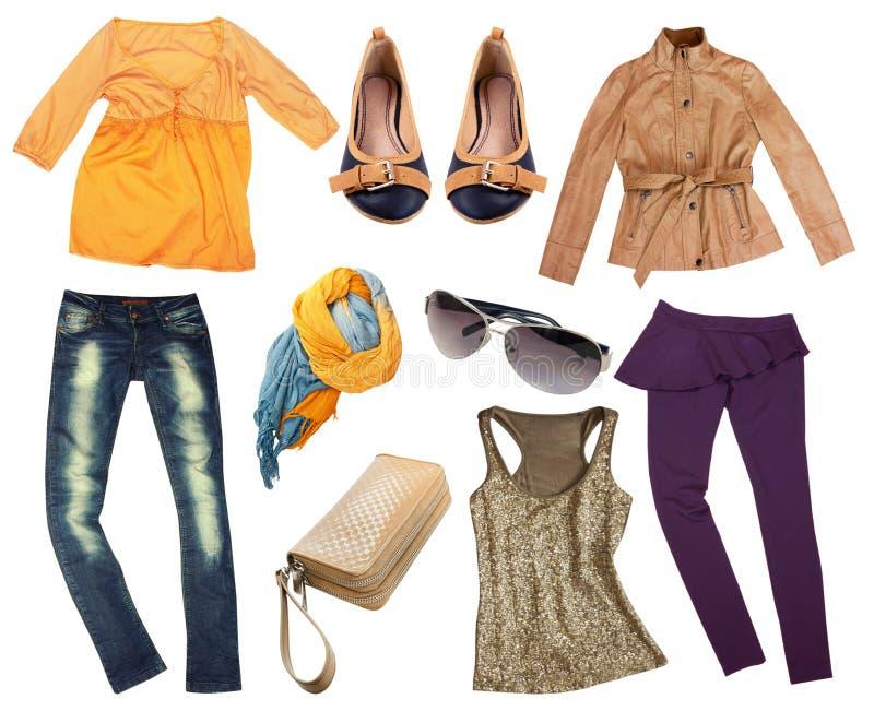Изолированные одежды осени моды стоковое фото