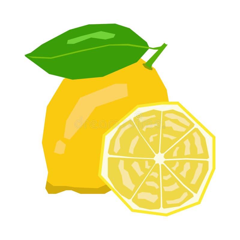 Изолированные пары лимона иллюстрация штока