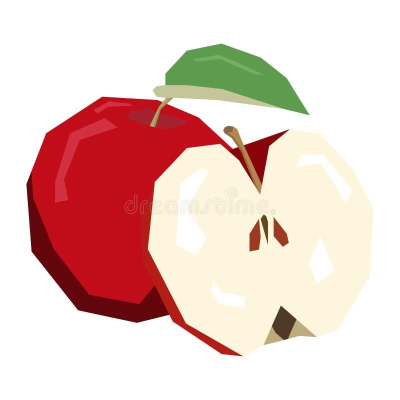 Изолированные пары яблок бесплатная иллюстрация