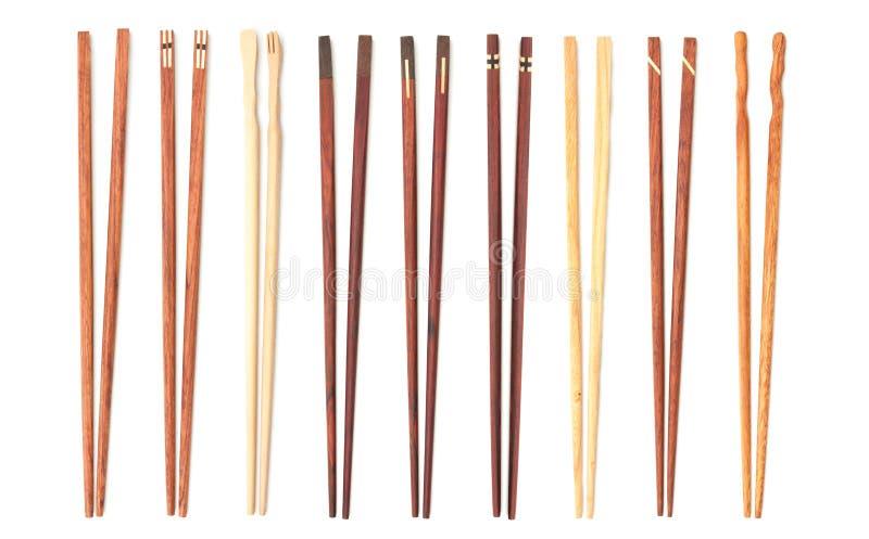 Изолированные палочки красивого собрания деревянные стоковые изображения rf
