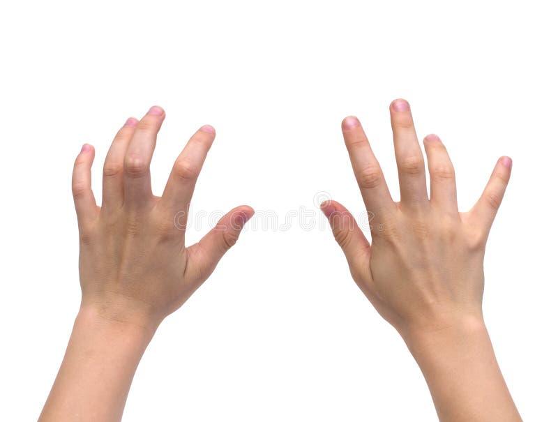 Изолированные руки ребенк стоковые фотографии rf